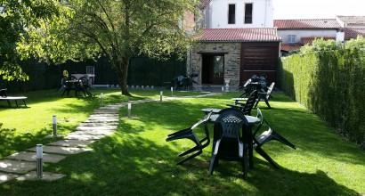 Jardín y lavandería